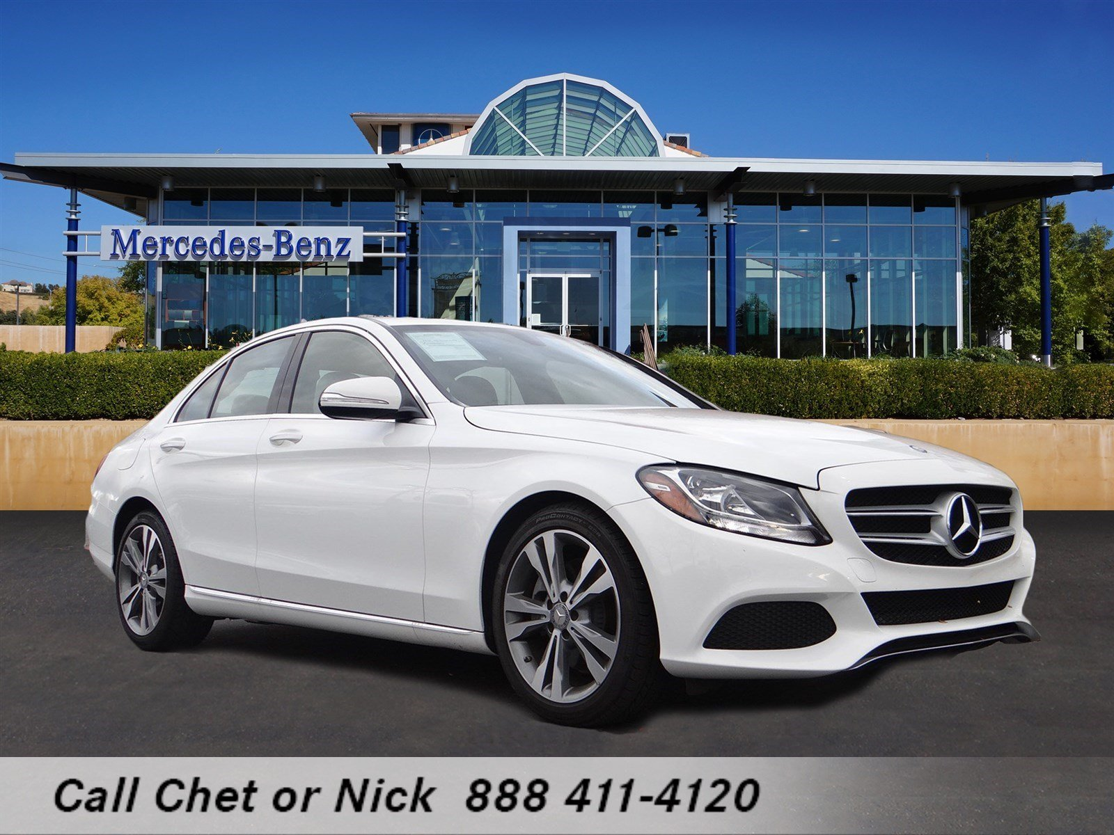 Certified pre owned 2015 mercedes benz c class c300w 4dr for Authorized mercedes benz service centers near me