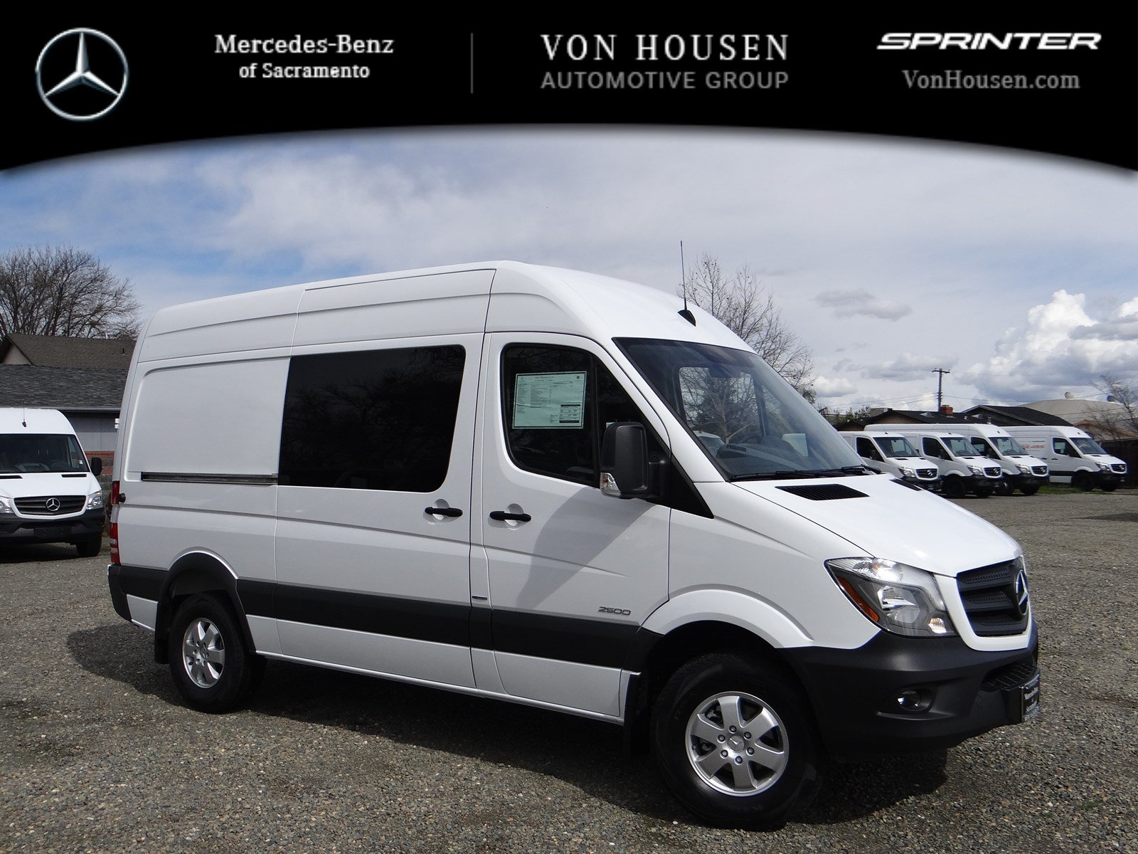 New 2016 mercedes benz sprinter crew van m2cv144 full size for Mercedes benz sacramento rocklin