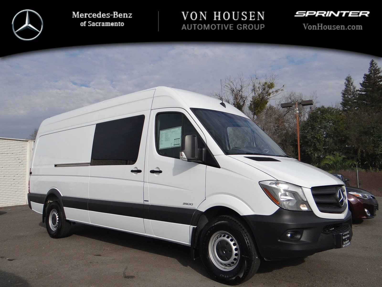 New 2016 mercedes benz sprinter crew van m2cv170 full size for Mercedes benz sacramento rocklin